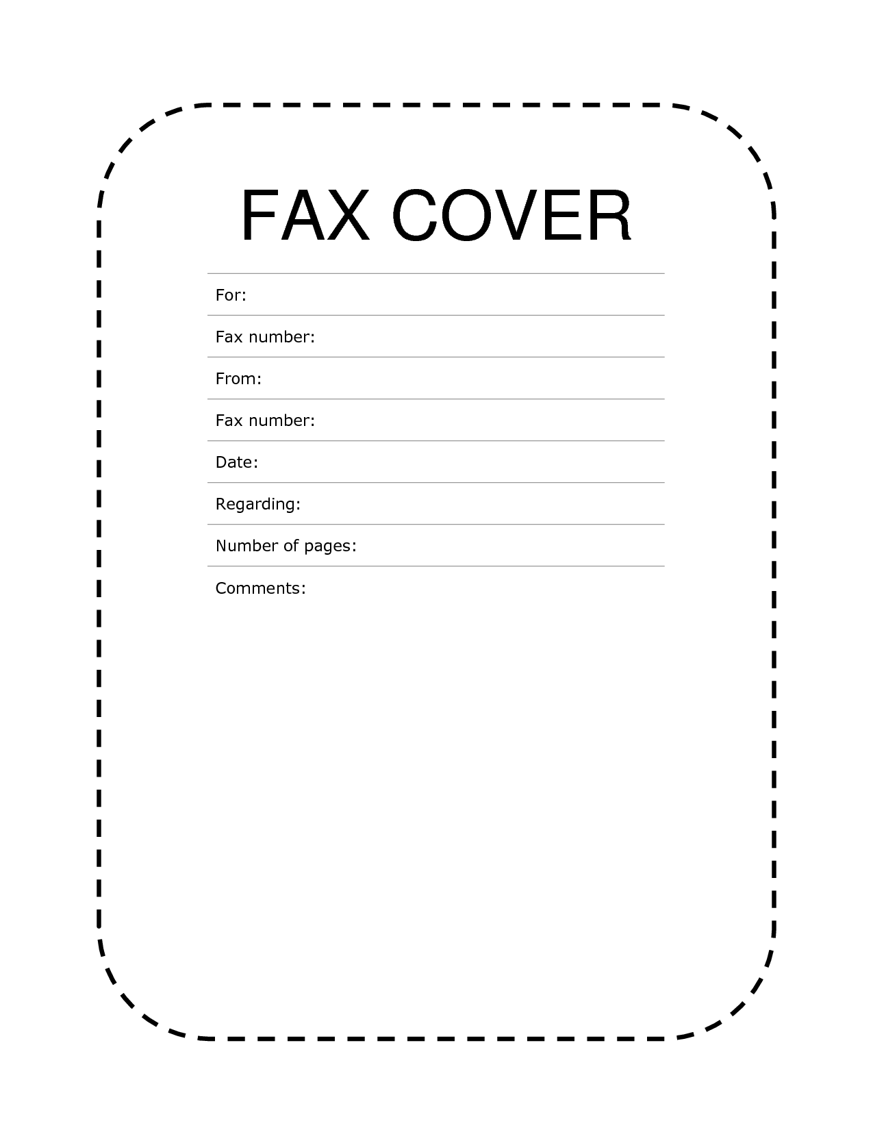 Free Faxing, Fax Cover