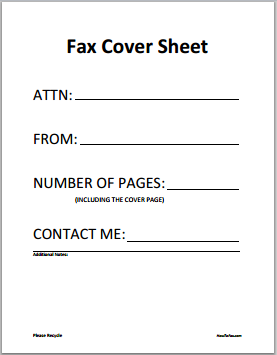 Important Things That A Fax Cover Sheet Must Include