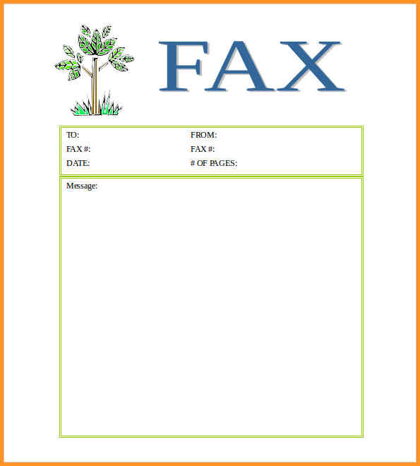 Blank Fax Cover Sheet, Fax Cover Sheet Word  Fax Cover Sheet In Word