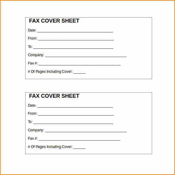 free fax cover sheet template