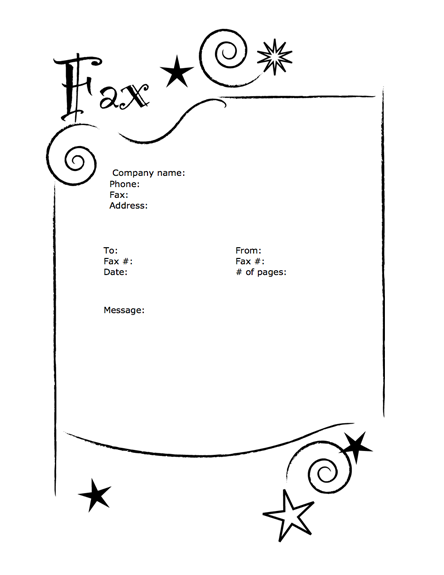 fax cover sheet template microsoft word 2007