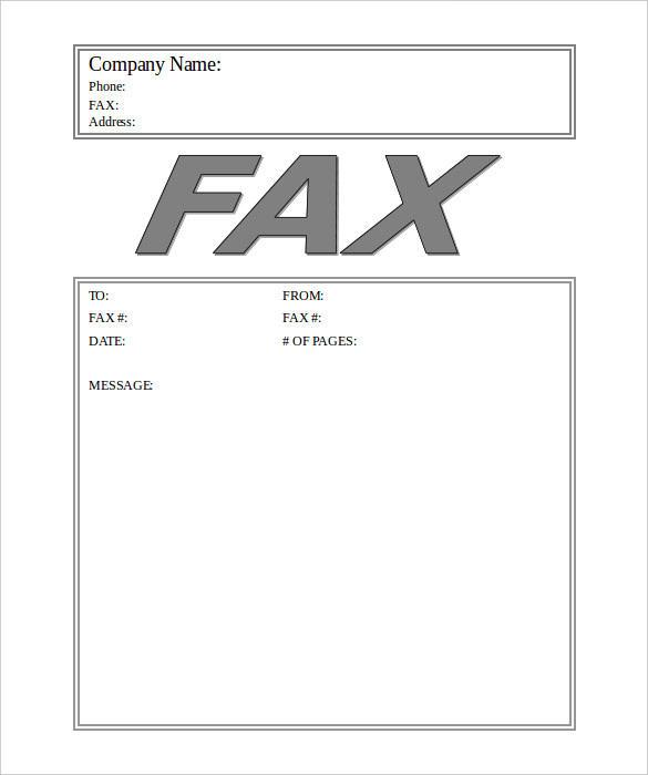 Generic Fax Cover Sheet  Free Fax Cover Sheet Template Download