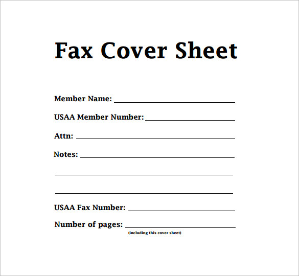 Printable Fax Cover Sheet, Fax Cover Sheet Word  Fax Cover Sheet In Word