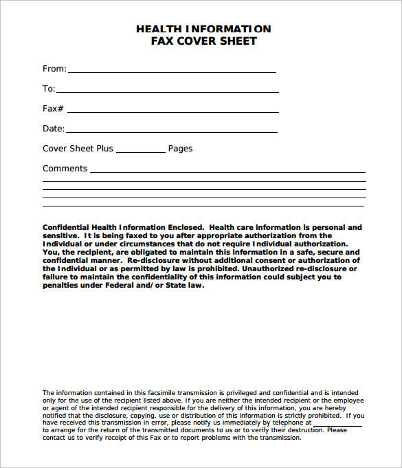Confidential Medical Fax Cover Sheet, medical fax cover sheet