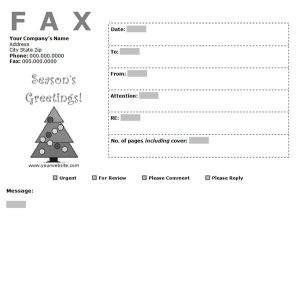 holiday fax cover sheet, holiday fax cover sheet template