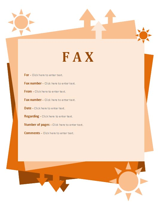 Fall Theme fax cover sheet, fax cover sheet template