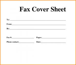 Standard Fax Cover Sheet Template, Fax Cover Sheet Download