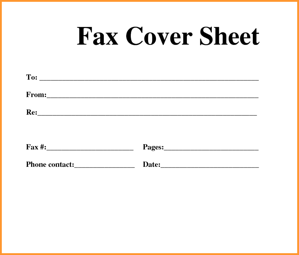 Fax Cover Sheet Download