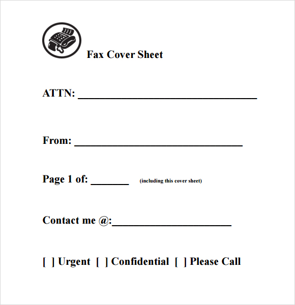 Standard Fax Cover Sheet Templates