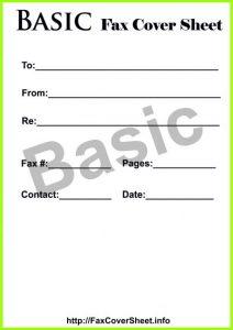 Basic fax cover sheet, Basic fax cover sheet download