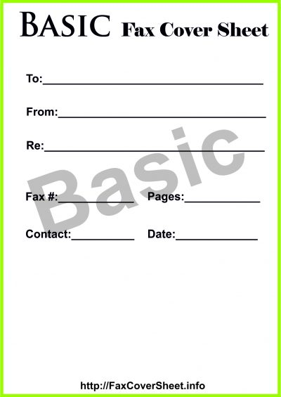 Basic fax cover sheet, Basic fax cover sheet download