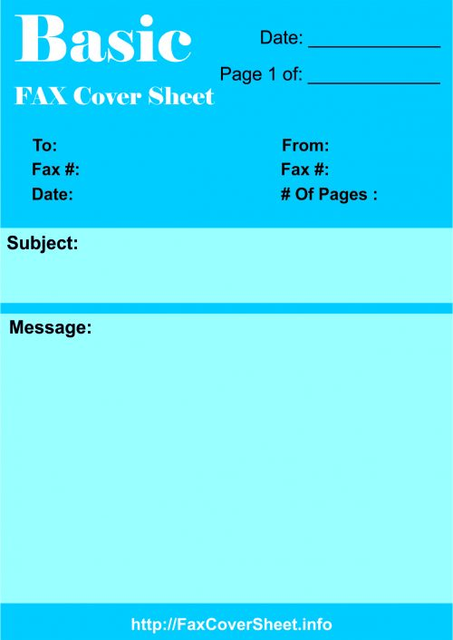 Download Fax Cover Sheet, Download Fax Cover Sheet Printable