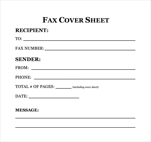 Fax Cover Sheet For Resume, Fax Cover Sheet