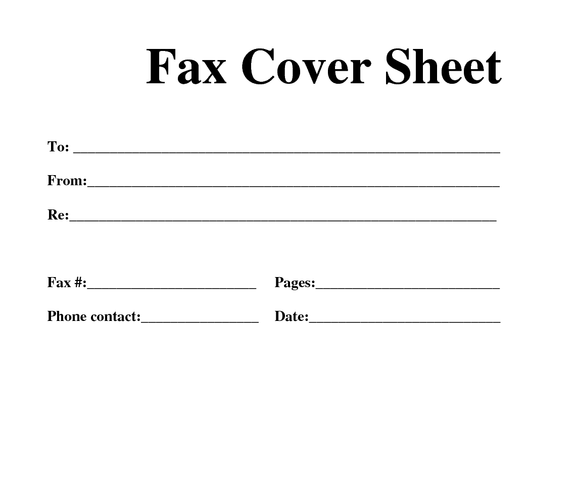 Fax Cover Sheet, Free Fax Cover Sheet For Resume