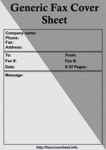 GenericFax Cover Sheet, Free GenericFax Cover Sheet