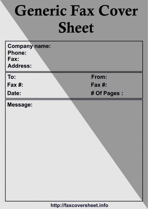 Generic Fax Cover Sheet, Free Generic Fax Cover Sheet