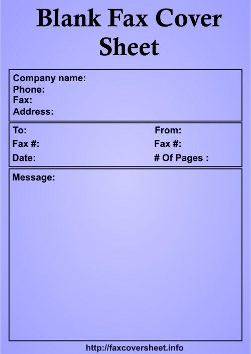 Blank Fax Cover Sheet, Free Blank Fax Cover Sheet