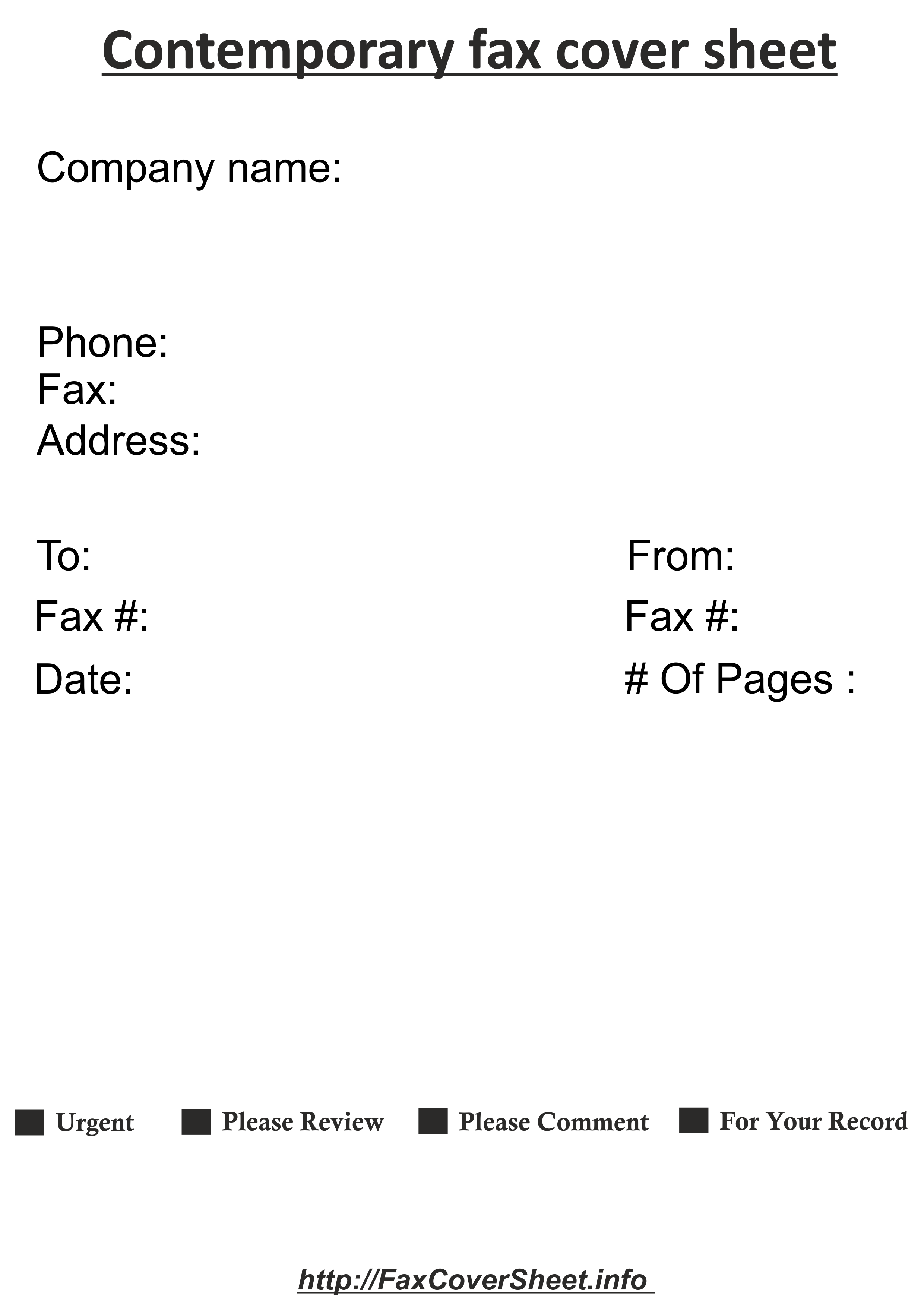 DownloadContemporary Design Fax Cover Sheet