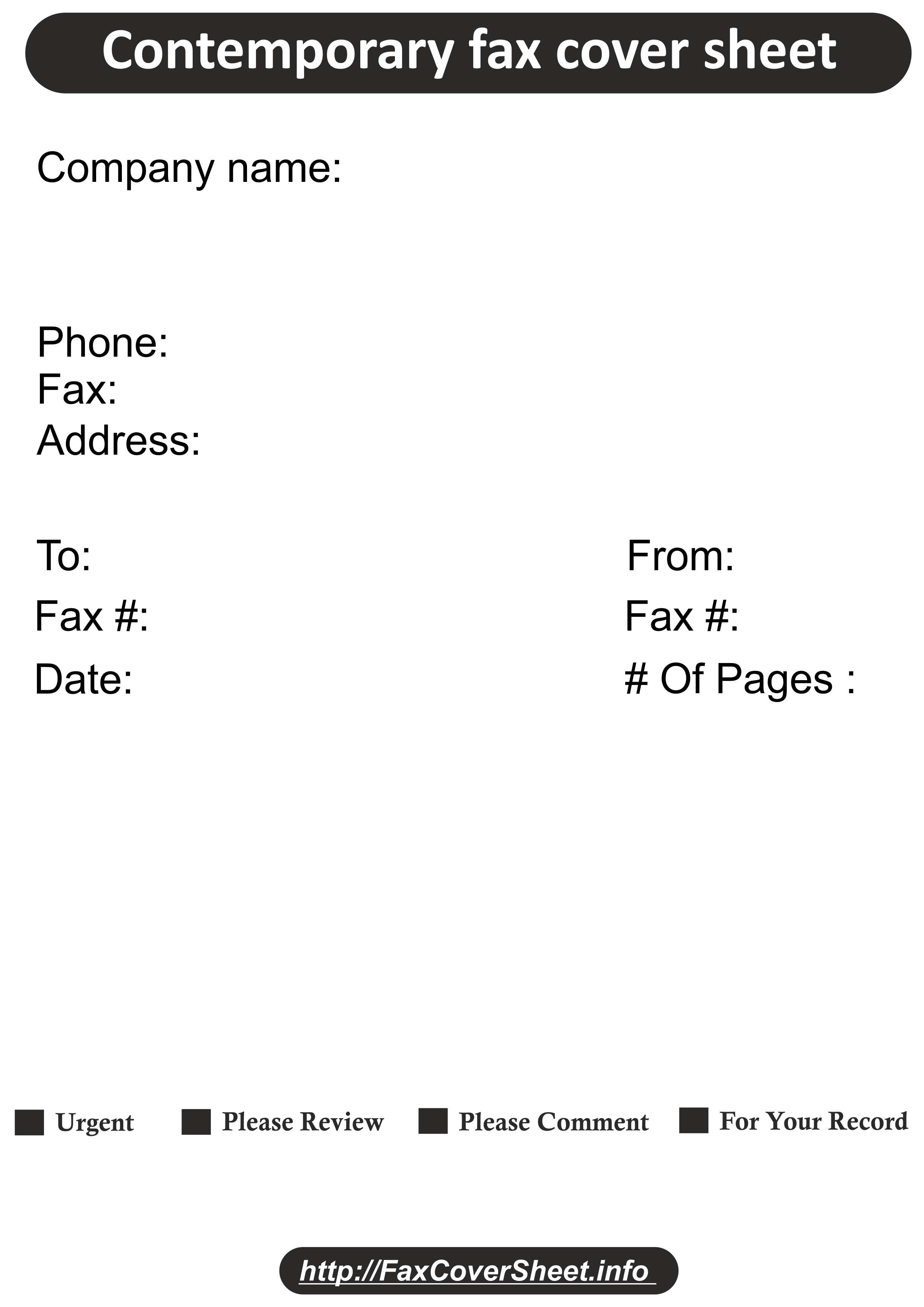 Contemporary Design Fax Cover Sheet