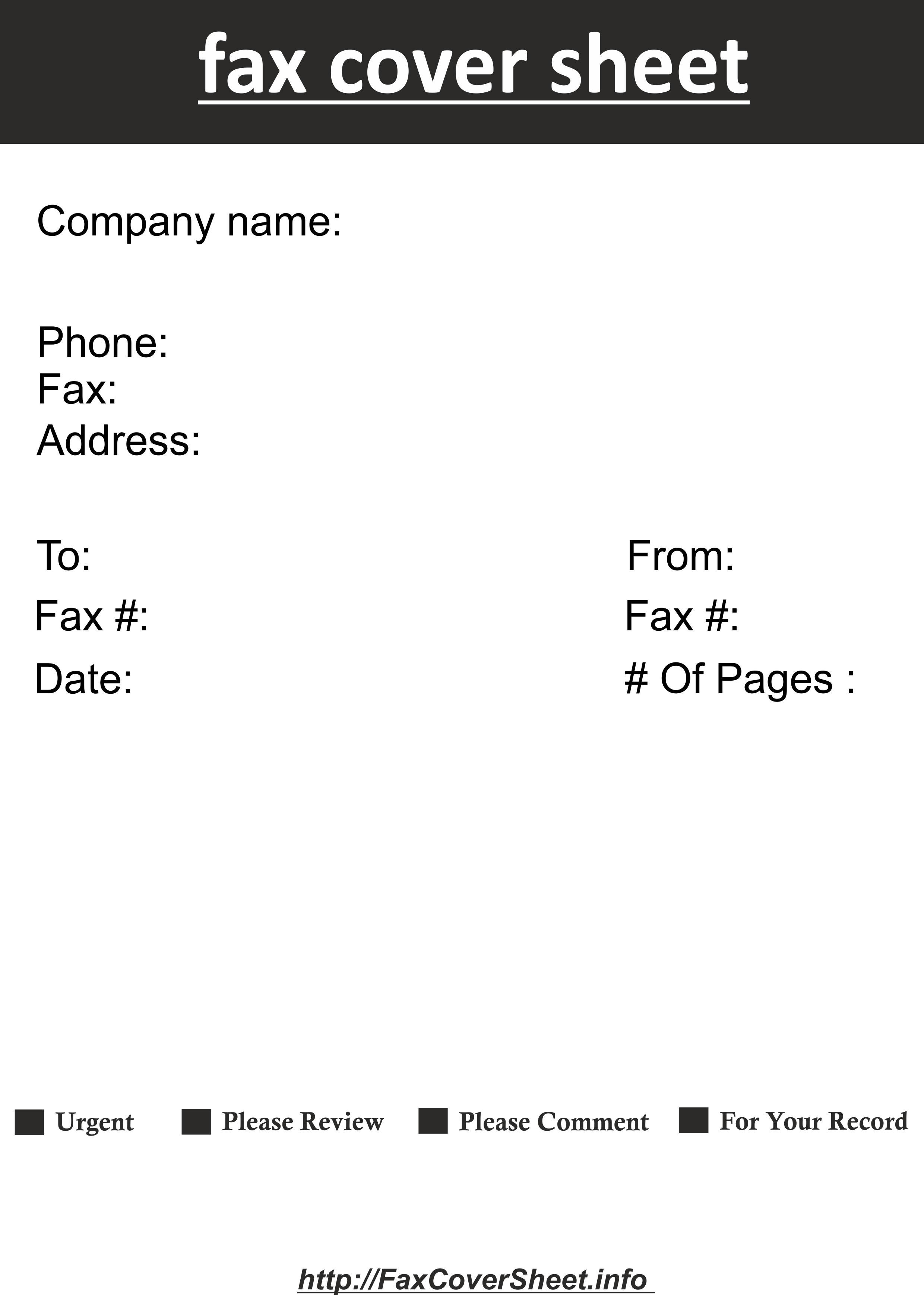 Fax Cover Sheet with Contemporary Design in Publisher Template
