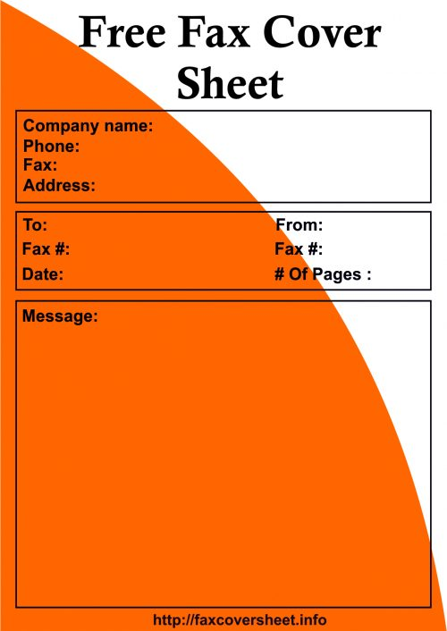 Fax Cover Sheet Free, Sample Fax Cover Sheet