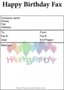 BirthdayFaxCoverSheet Download