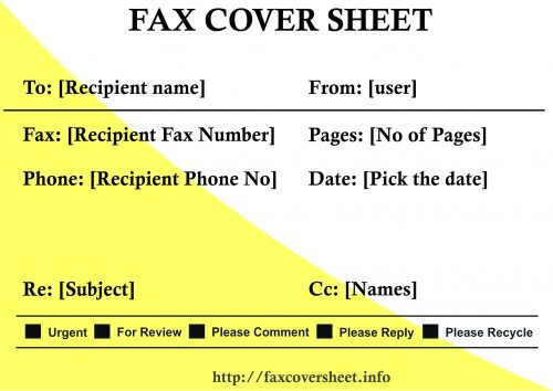 How to Fill out a Fax Cover Sheet, fill out fax cover sheet
