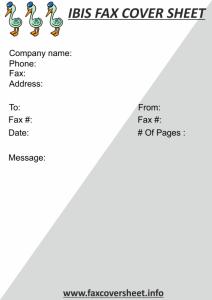 IBIS Fax Cover Sheet Template