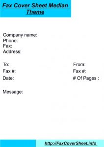 Download Median Theme Fax Cover Sheet