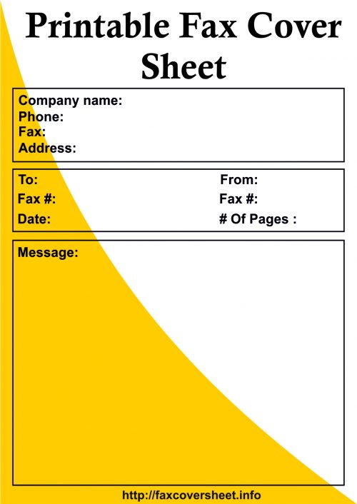 Printable Fax Cover Sheet, Download Printable Fax Cover Sheet