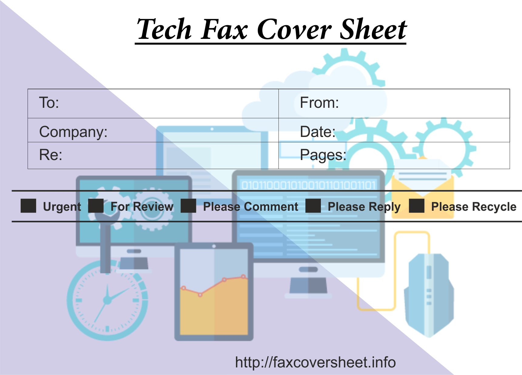 Fax Cover Sheet with Tech Design, sample Fax Cover Sheet with Tech Design