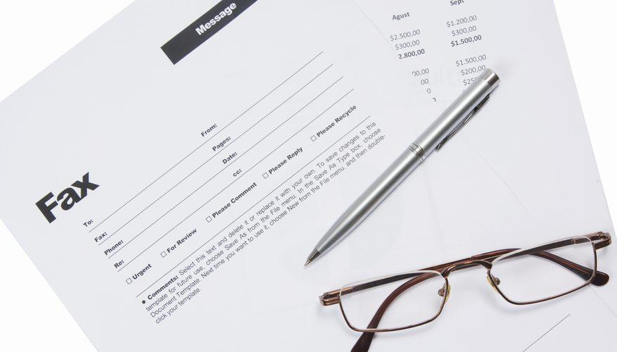 Send a Fax Document Cover Sheet
