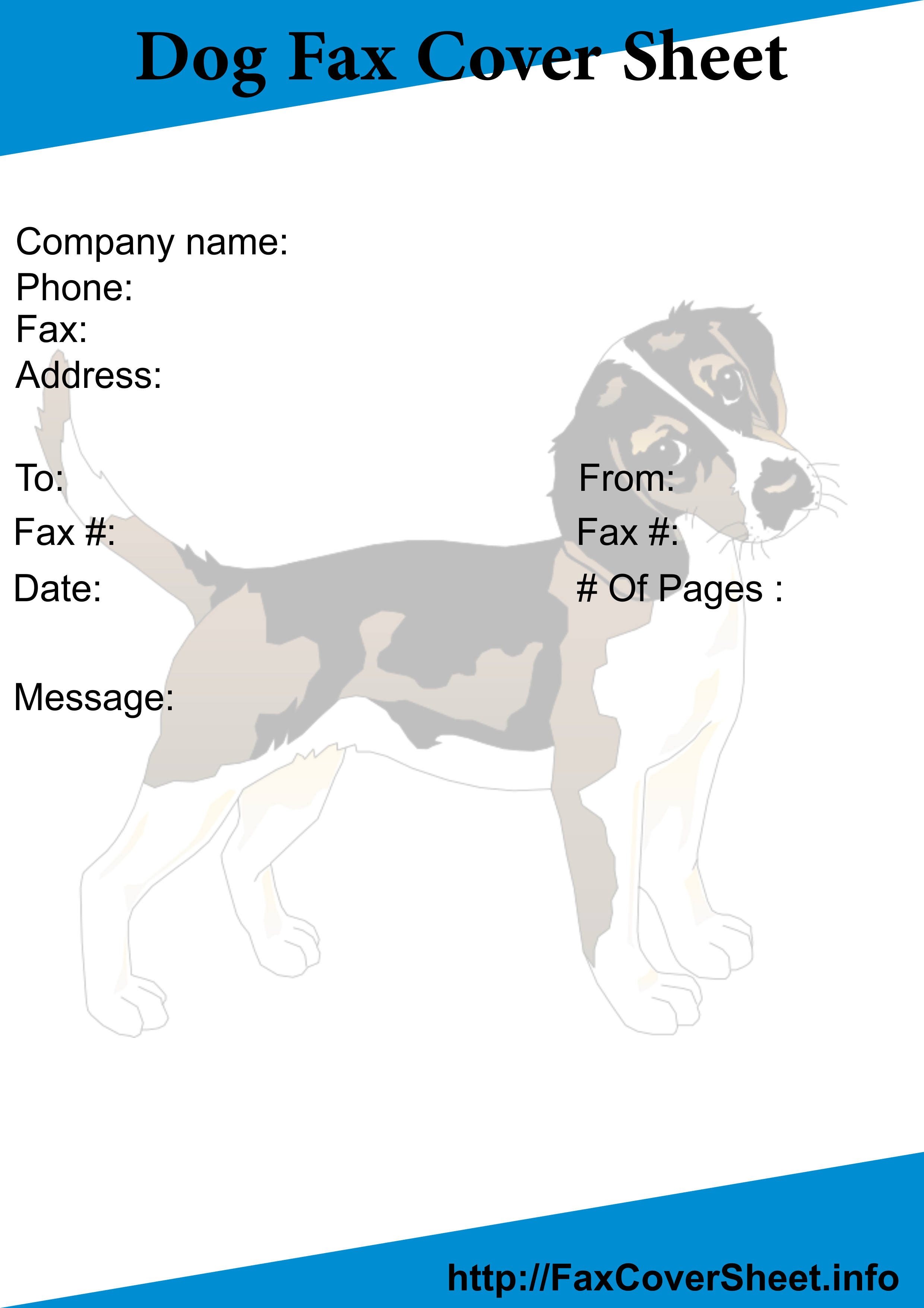 Free Dogs Fax Cover Sheet