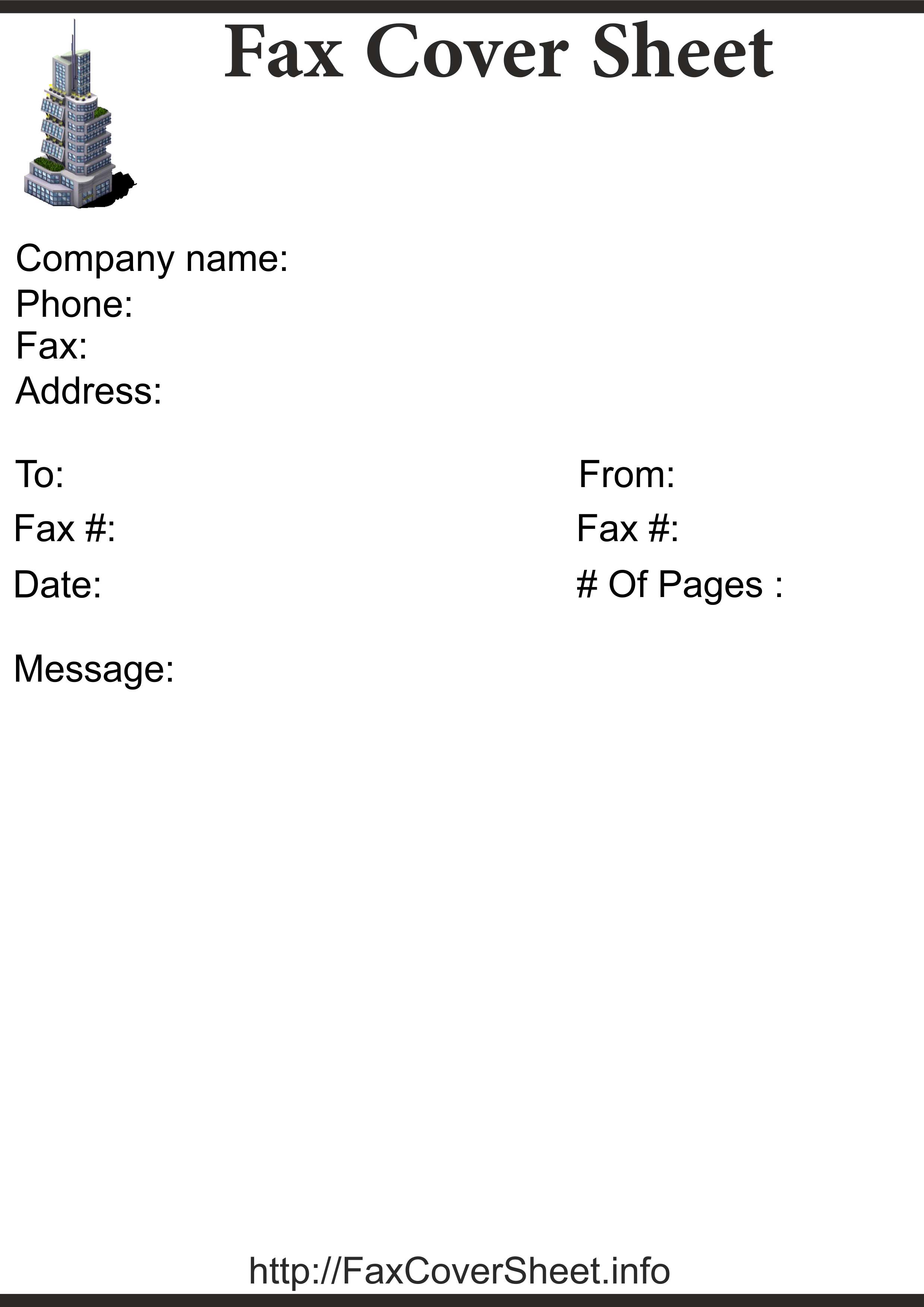 Free Downtown Fax Cover Sheet, Downtown Fax Cover Sheet Template