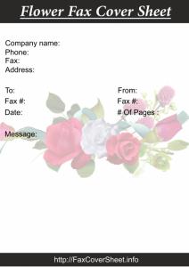 Printable FlowerFaxCoverSheet