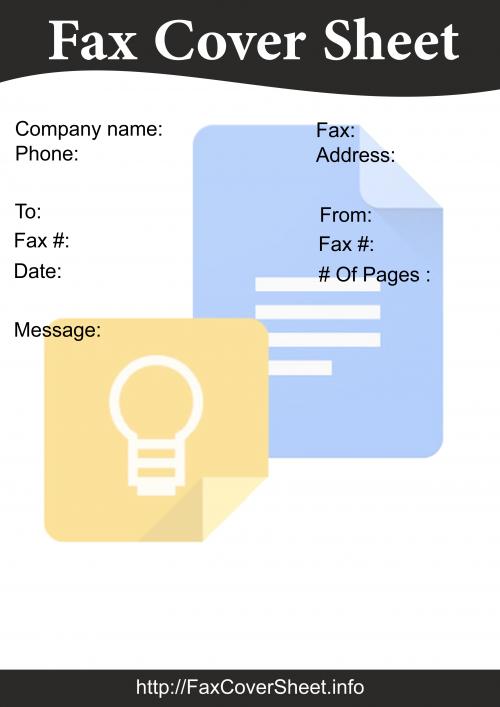 Google Docs Fax Cover Sheet Template