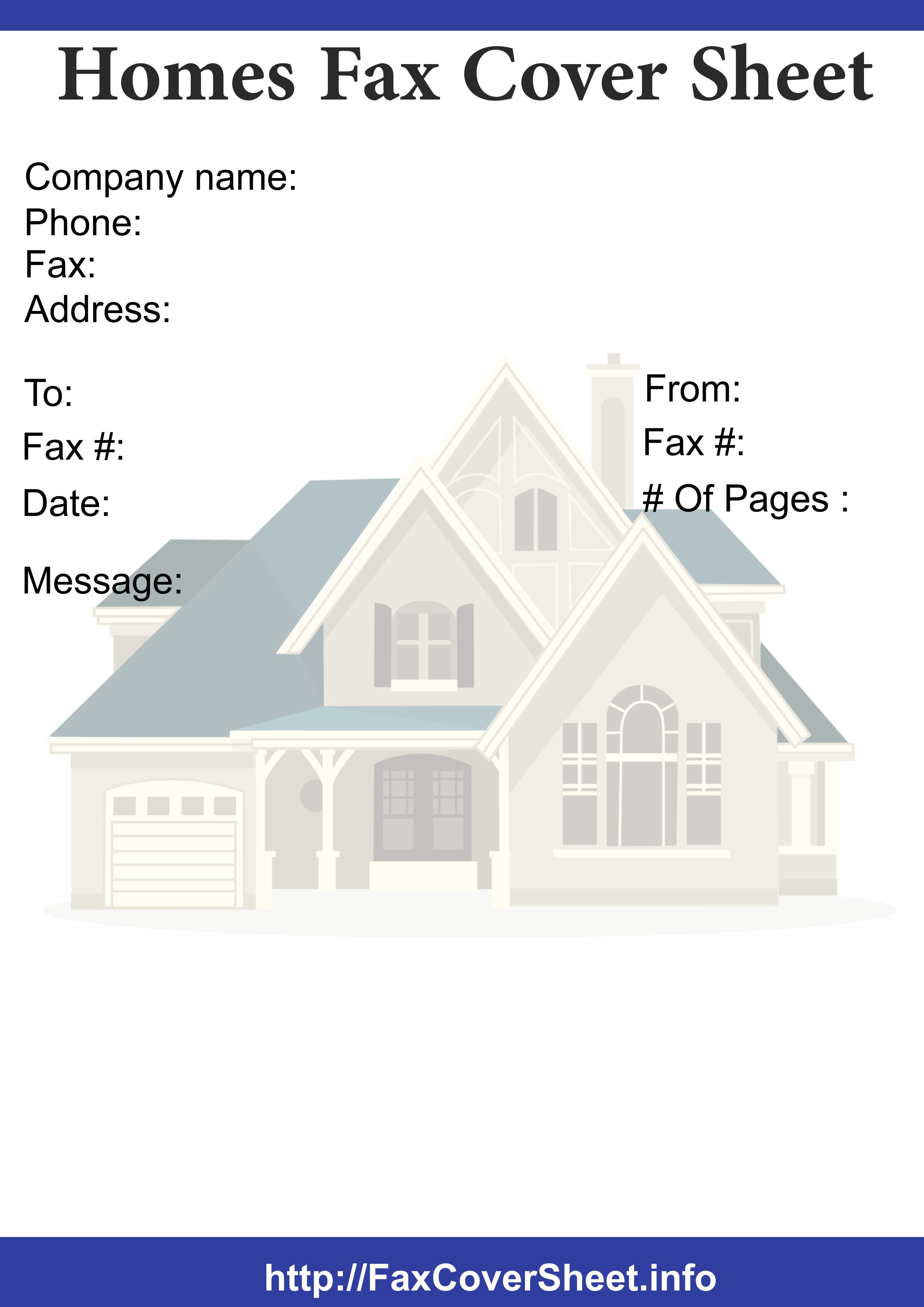 homes fax cover sheet