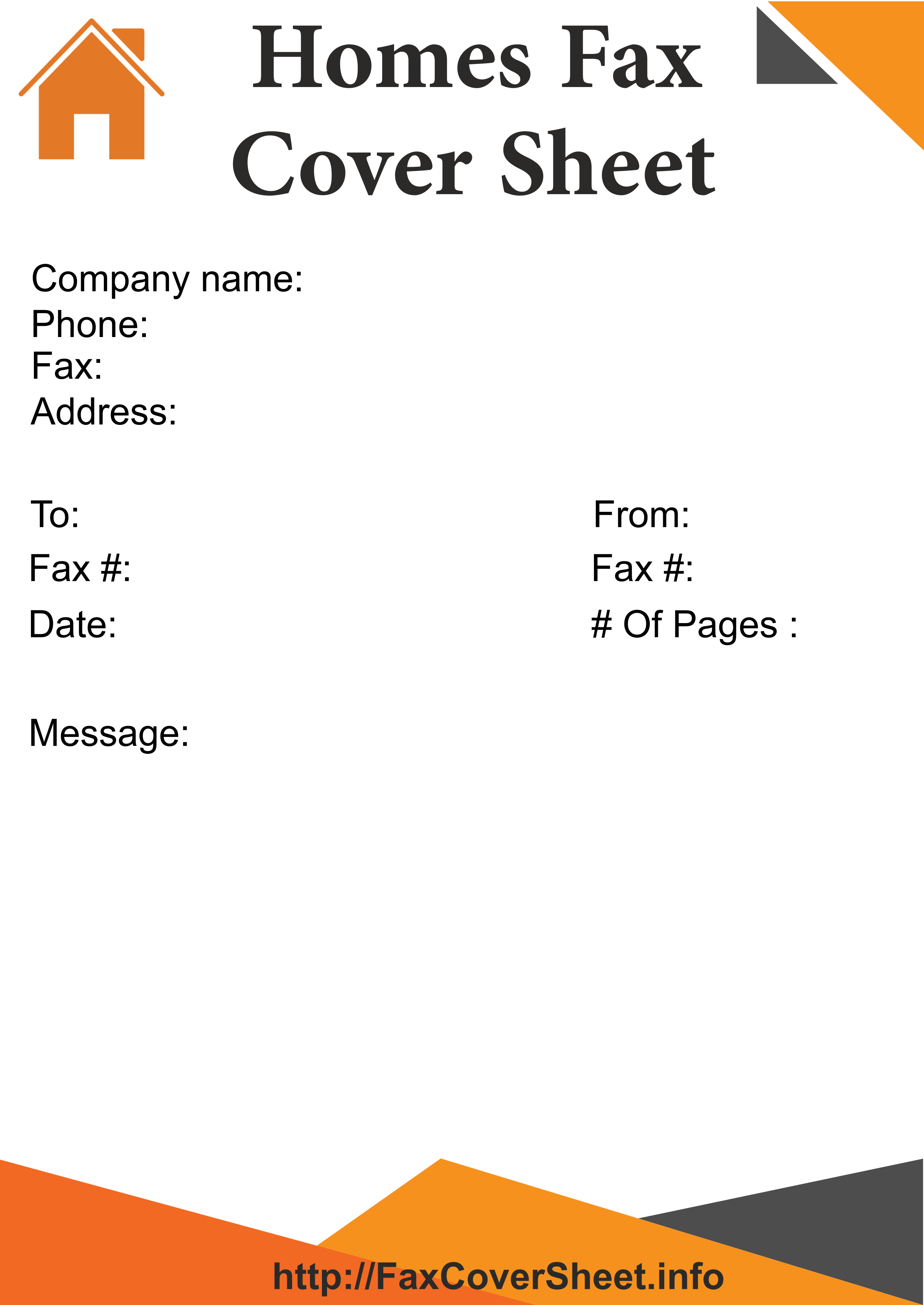 home fax cover sheet