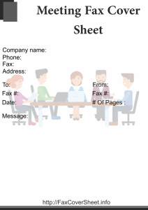 Meeting Fax Cover Sheet