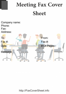 Meeting Fax Cover Sheet Templates