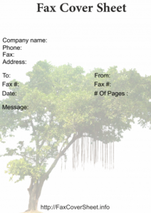 Tree Fax Cover Sheet