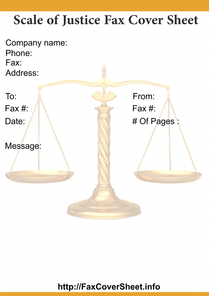 Free Scales of JusticeFaxCoverSheet