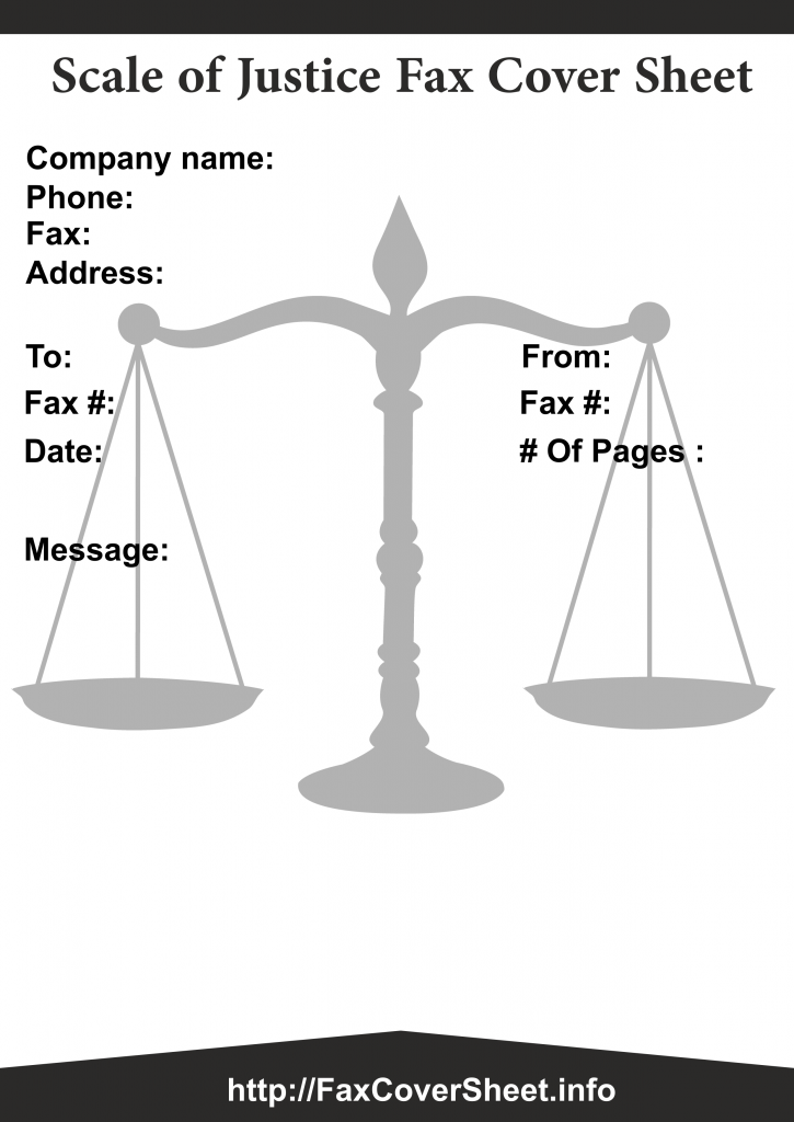Scales of Justice Fax Cover Sheet