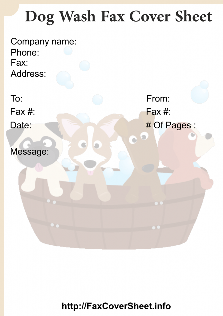 Dog WashFax CoverSheet