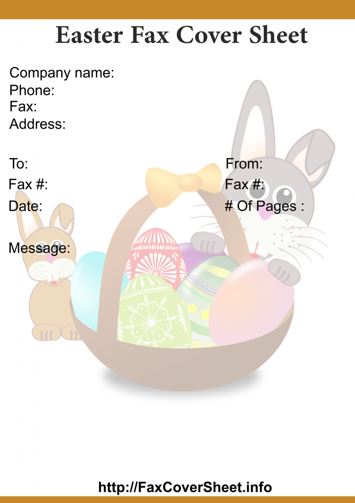 Easter Fax Cover Sheet Templates