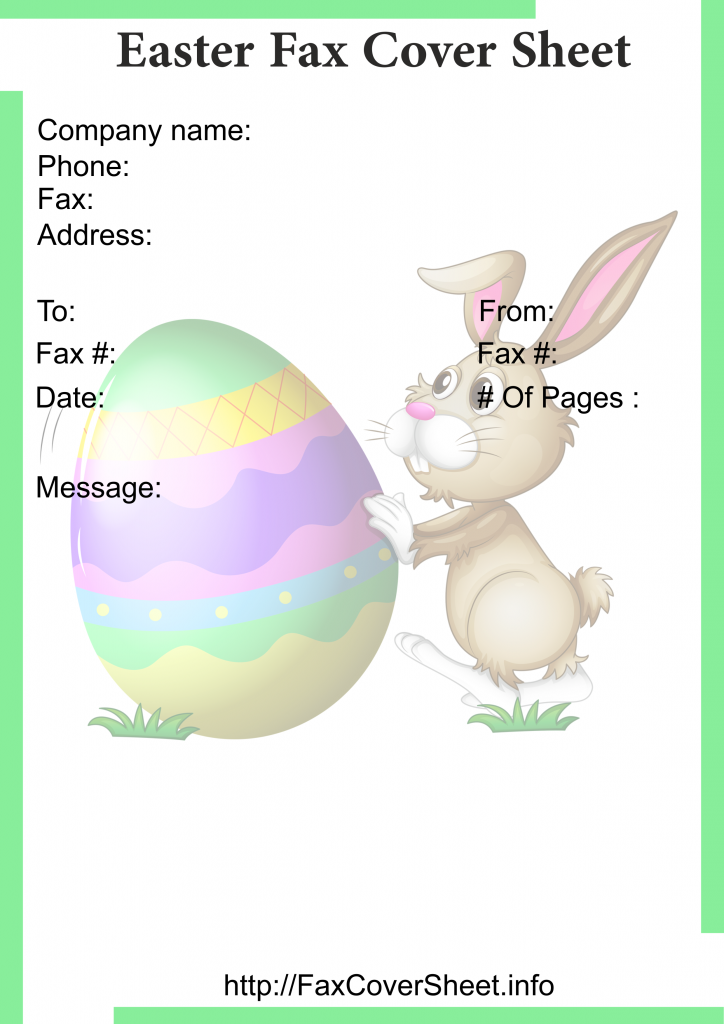 Free Easter Fax Cover Sheet