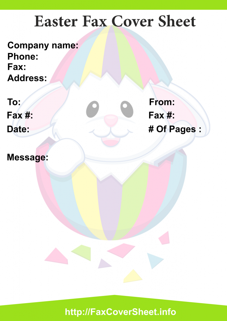 Easter Fax Cover Sheet