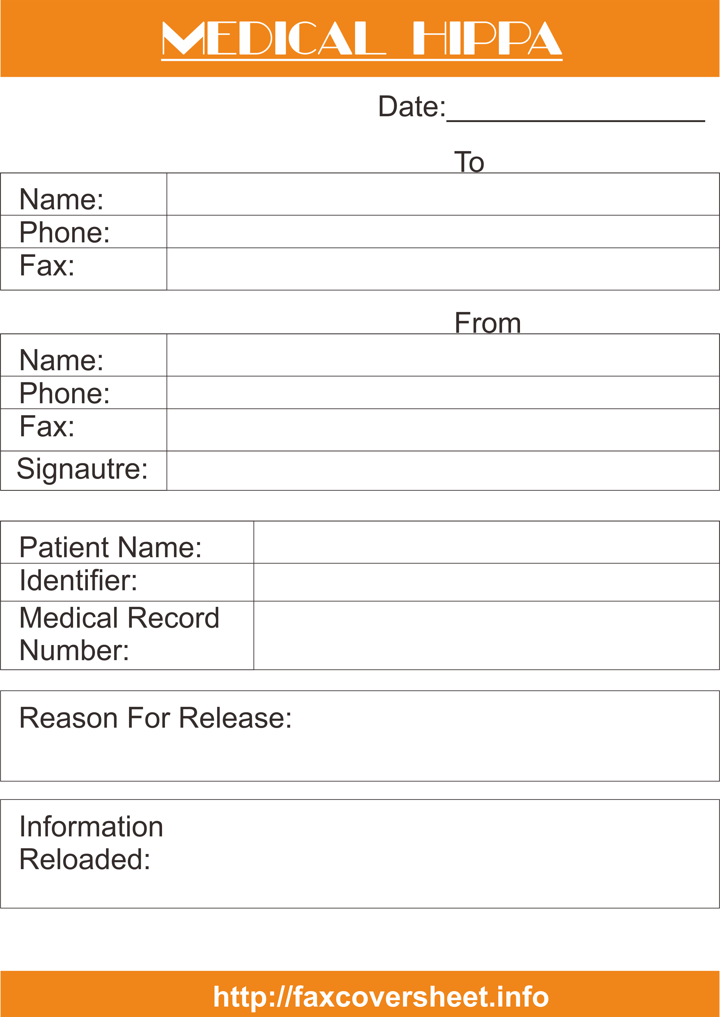 Free Medical HIPAA Fax Cover Sheet