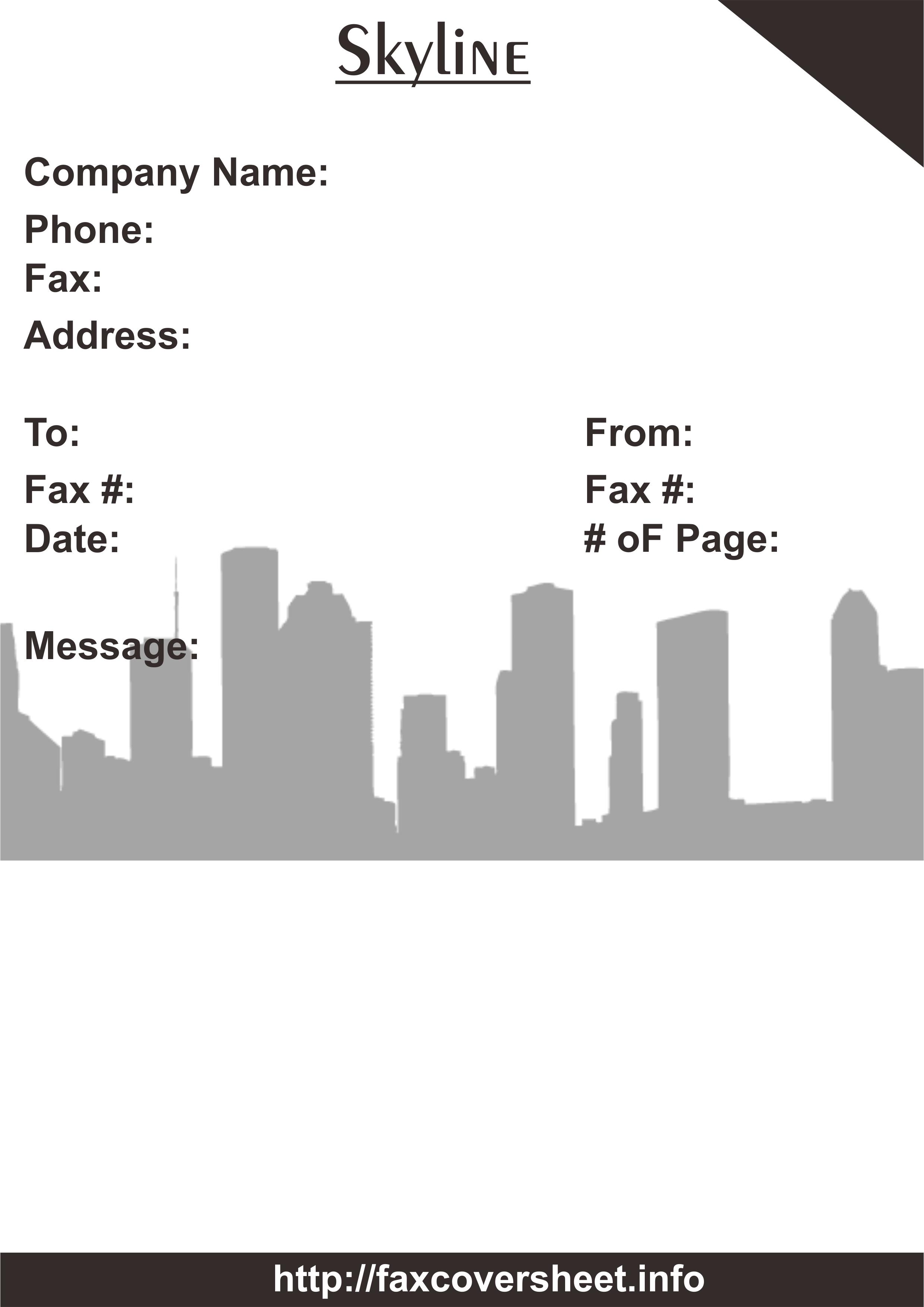 SkylineFaxCoverSheets Templates