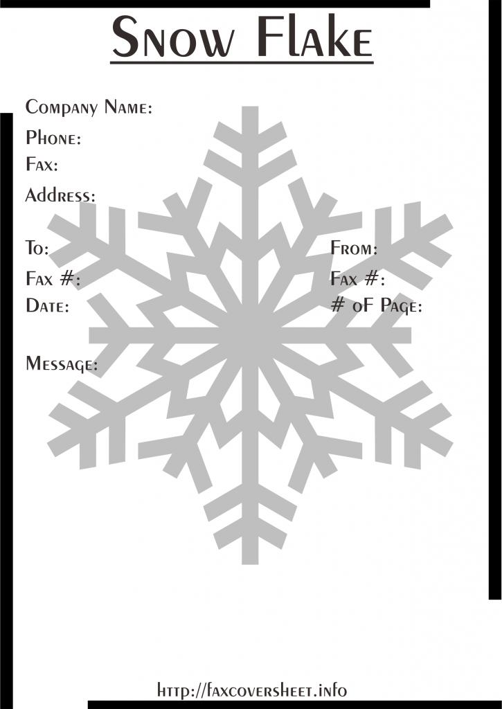 SnowflakesFaxCoverSheet Templates